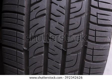 Car tire close up - stock photo
