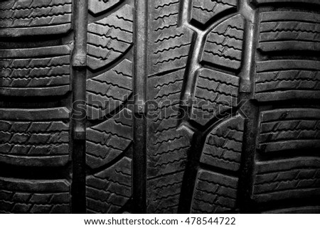 Car tire close-up