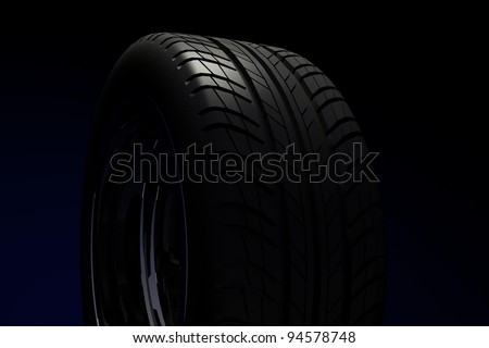 Car tire. Quality protector. 3d render.