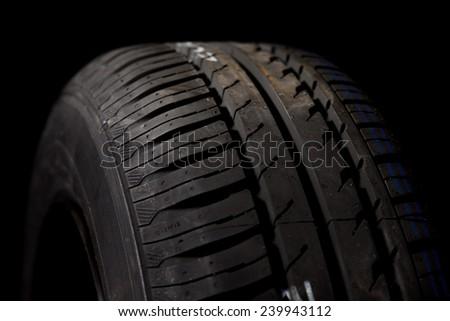 Car tires close-up - stock photo