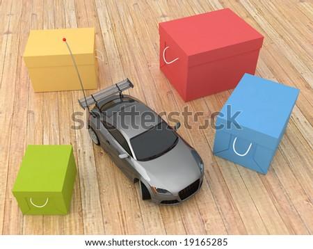car toy - stock photo