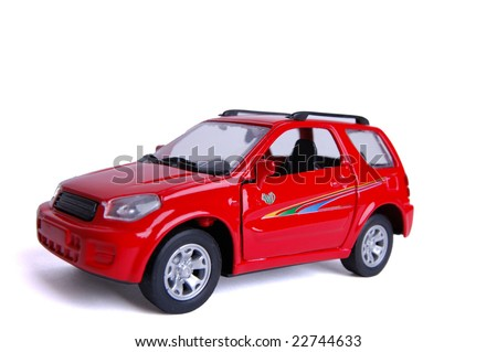 car toy isolated on white - stock photo