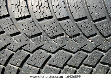 Car tyre background