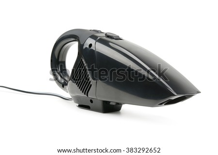 car vacuum cleaner isolated on white background - stock photo