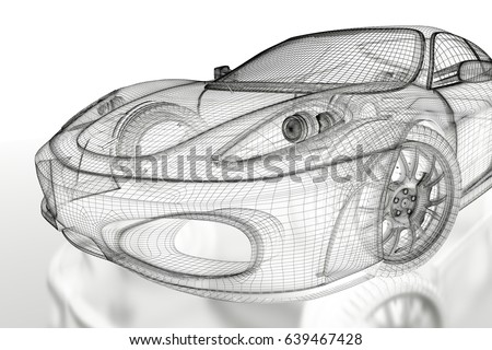Car vehicle 3d blueprint mesh model stock illustration 639467428 car vehicle 3d blueprint mesh model on a white background 3d rendered image malvernweather Gallery