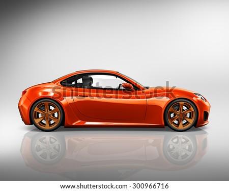 Car Vehicle Transportation 3D Illustration Concept - stock photo