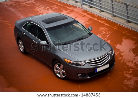 car view from the top - stock photo