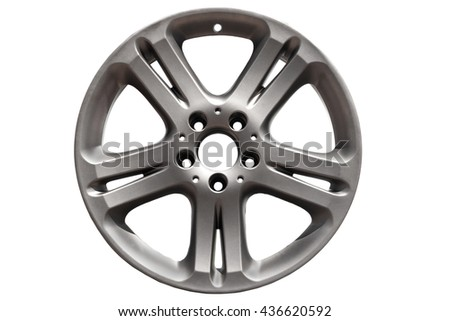 Car wheel, Car alloy rim on white background.