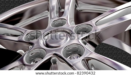 Car wheel. 3d illustration