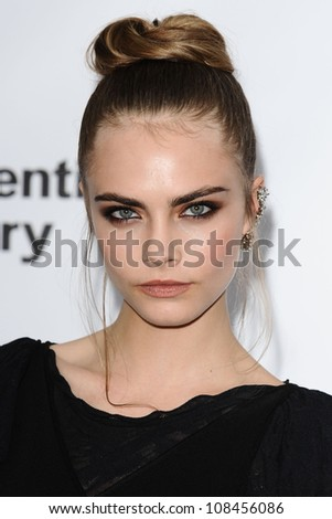 Cara Delevigne arriving for the Serpentine Gallery Summer Party 2012, Hyde Park, London. 26/06/2012 Picture by: Steve Vas / Featureflash - stock photo