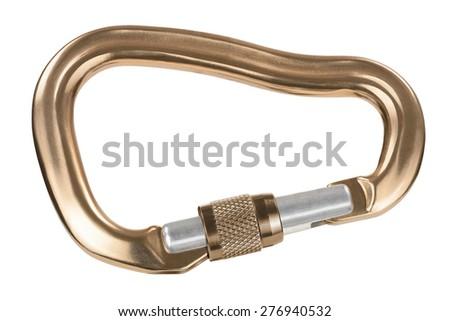 Carabiner with screw lock - stock photo
