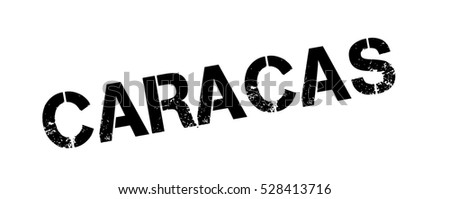 Caracas rubber stamp. Grunge design with dust scratches. Effects can be easily removed for a clean, crisp look. Color is easily changed.