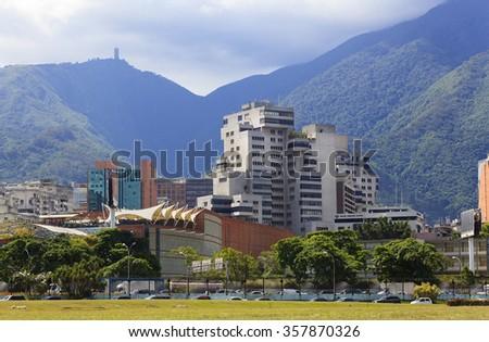 CARACAS, VENEZUELA-JULY 5, 2013: Skyline of Caracas, capital city of Venezuela. - stock photo