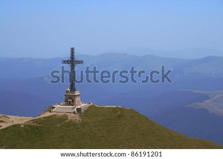 Caraiman Mountain Cross - stock photo