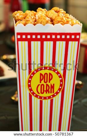 caramel popcorn - stock photo