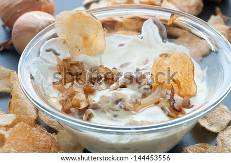 Caramelized Onion Dip - stock photo