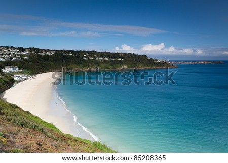 Carbis Bay near St Ives - stock photo