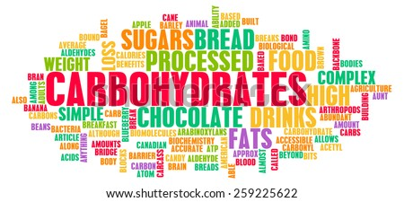 Carbohydrates Weight Loss Concept with Removing It - stock photo