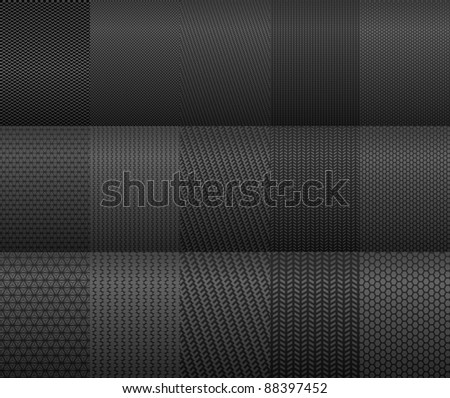 Carbon and fiber backgrounds for texture design. Vector version also available in gallery