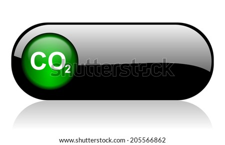 carbon dioxide black glossy banner - stock photo