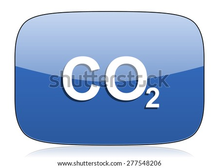 carbon dioxide icon co2 sign - stock photo