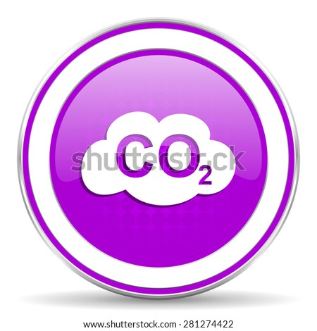 carbon dioxide violet icon co2 sign - stock photo