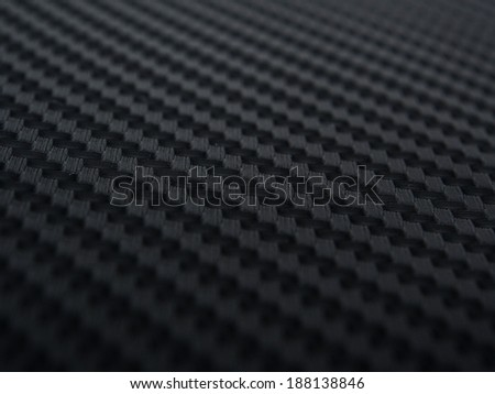 Carbon Fiber Sticker in perspective view. - stock photo