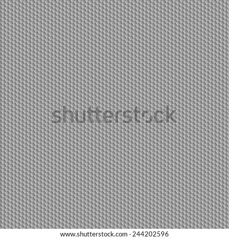 Carbon  pattern. Grey hexagon convex texture.  - stock photo