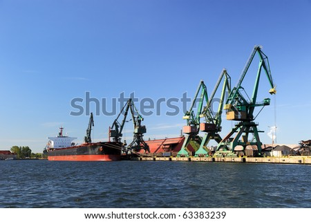 Carbon quay at the port of Gdansk, Poland. - stock photo