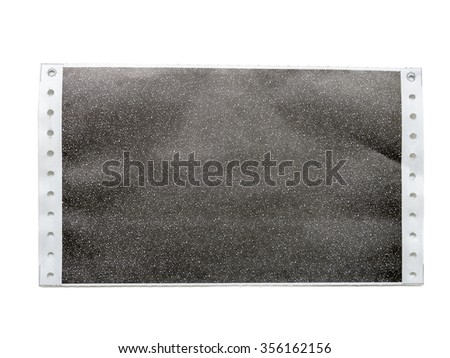 carbon salary slip, or carbon paper isolated on white background