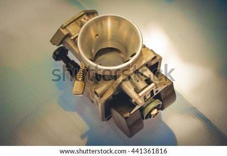 Carburetor For Motorcycle. This has clipping path.