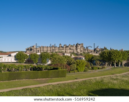 Carcassonne is a fortified french town in the Aude department.Carcassonne became famous in its role in the Albigensian Crusades, when the city was a stronghold of Occitan Cathars.