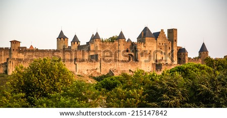 Carcassonne, South France - stock photo