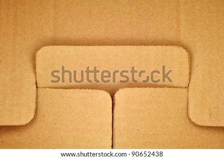 card board paper texture joint background - stock photo