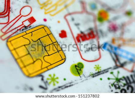 Card convenience store - stock photo