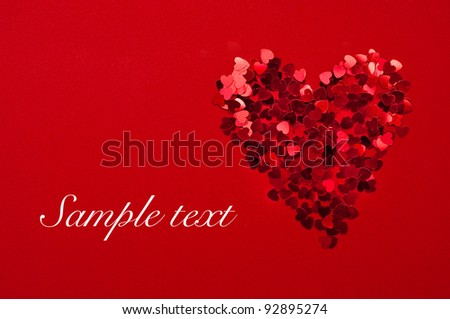 Card for a Valentine's day - stock photo