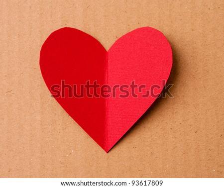 Card for a Valentine's day. Look through my portfolio to find more images of the same series - stock photo