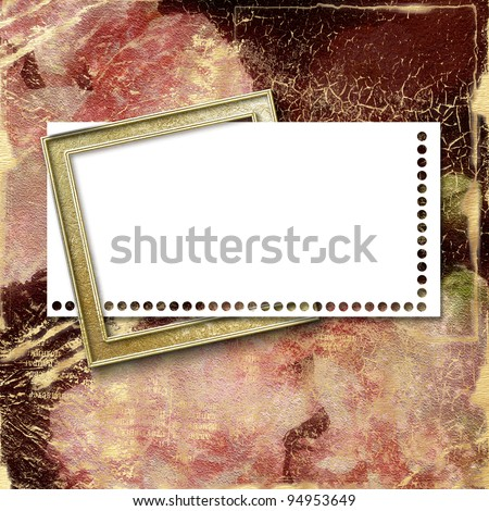 Card for greeting or invitation on the abstract background. - stock photo