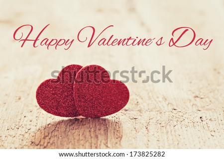 card for valentines day with text  happy valentines day  - stock photo