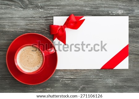 Card, gift, coupon. - stock photo