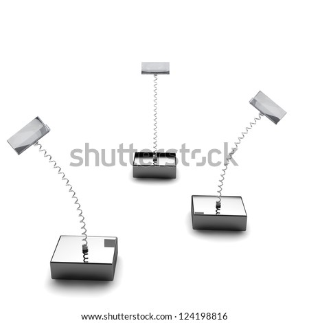 Card holders isolated on white background with card and place for your text on it - stock photo