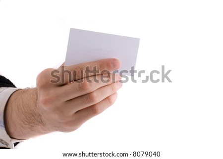 card in a hand