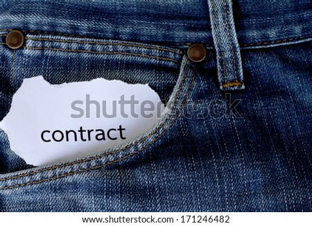 card in pocket of blue jeans - stock photo