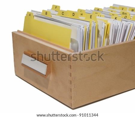 card index box - stock photo