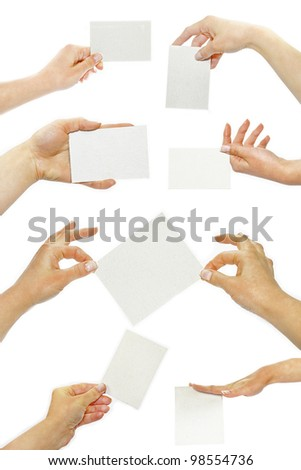 card paper in your hand - stock photo