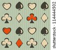 card suit seamless (raster version) - stock photo