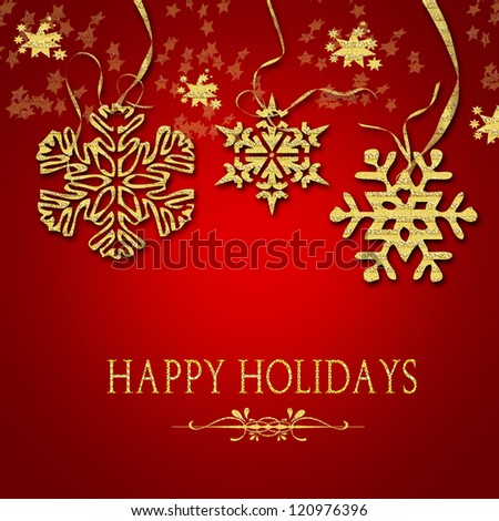 card with Christmas - stock photo