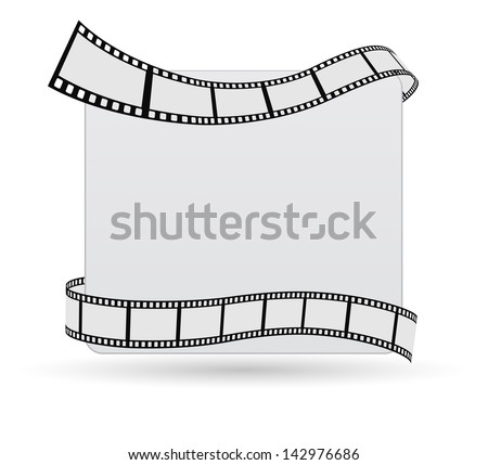 card with film - stock photo