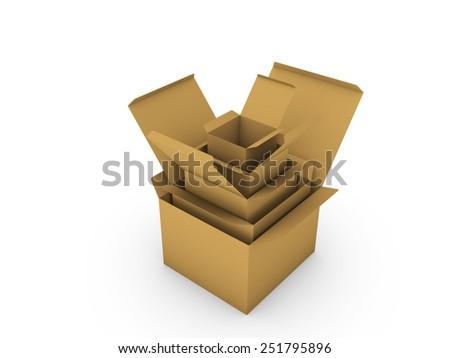 Cardboard box - stock photo