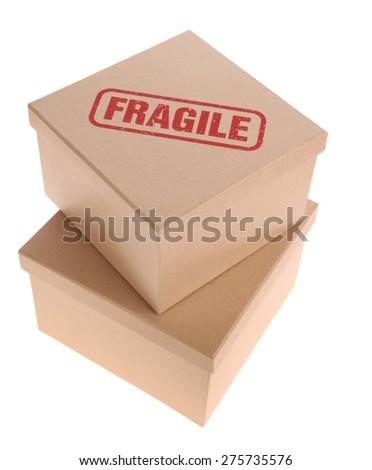 Cardboard Box - Fragile - stock photo